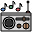 box, cassette, multimedia, music, radio, retro icon