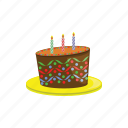 birthday, cake, happy, party icon