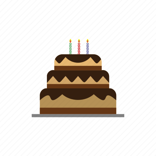 birthday, cake, candles, happy, party icon
