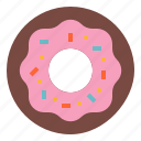 bakery, dessert, donut, party, sweet icon