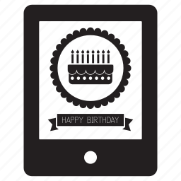 birthday, card, greeting, greetings, happy, ipad, tablet icon