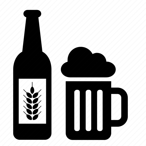 alcohol, beer, beverage, bottle, drink, glass, jar icon