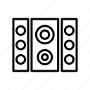 audio, loud, music, speaker icon