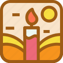 candle, fire, light, lighter, party icon