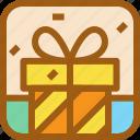 birthday, box, gift, party, present, wedding icon