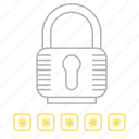 padlock, password, protection, security icon