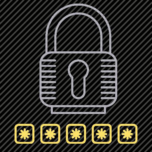 padlock, password, protection, security icon