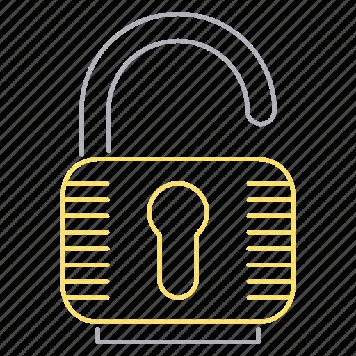 padlock, password, protection, security, unlock icon