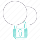 cloud, padlock, password, protection, security icon