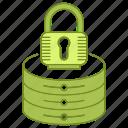 data, database, lock, password, protection, security, server icon