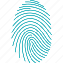 finger, fingerprint, print, recognition, scan, security, touch icon