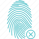 scan, rejected, fingerprint, touch, security, id, biometric