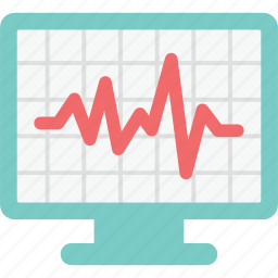 electrocardiography, emergency, health, hospital, medical, monitor icon