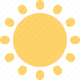day, daytime, forecast, noon, sun, sunny, weather icon