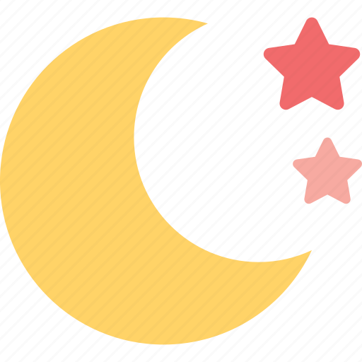 clear, forecast, moon, night, star, weather icon