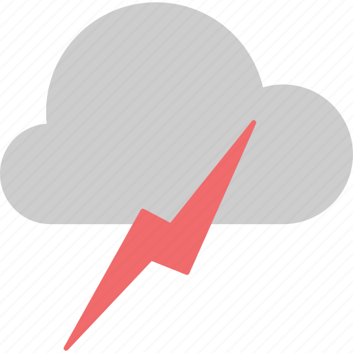 cloud, cloudy, forecast, lightning, thunderbolt, weather icon