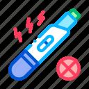 negative, one, pregnancy, strip, test icon