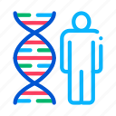 dna, human, man, molecule, silhouette icon