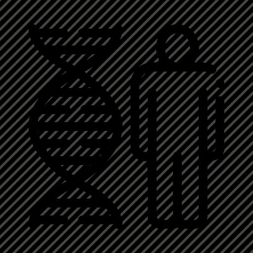 dna, human, molecule, silhouette icon