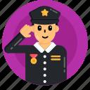 police officer, policeman, patrolman, peace officer, lawman