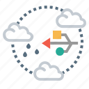 cloud, connection, data, server icon