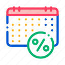 calendar, loan, payday, salary, schedule icon