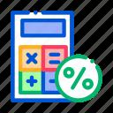 calculations, calculator, loan, math, payday icon