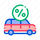 car, credit, loan, payday icon