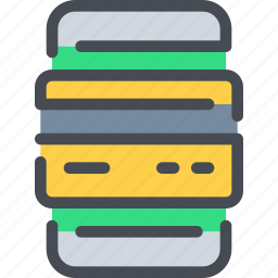 bank, banking, business, card, credit, mobile, payment icon