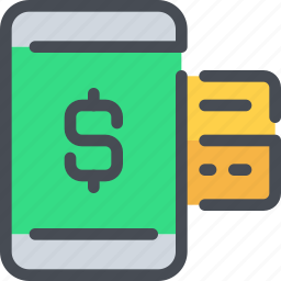 bank, banking, business, mobile, payment, smartphone icon