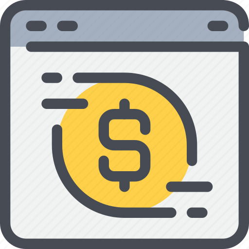 bank, browser, business, online, payment icon