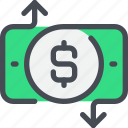 arrow, bank, business, exchange, money, payment icon