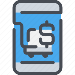 banking, business, mobile, payment, shopping, smartphone icon