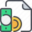 banking, business, document, file, finance, payment icon