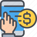 business, mobile, money, payment, shopping, smartphone icon