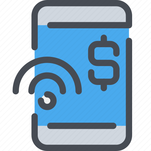business, mobile, money, online, payment, smartphone icon