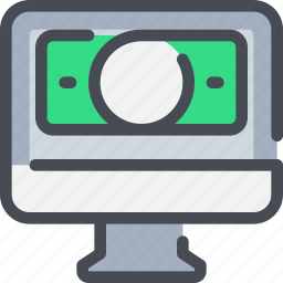 banking, business, computer, money, payment icon