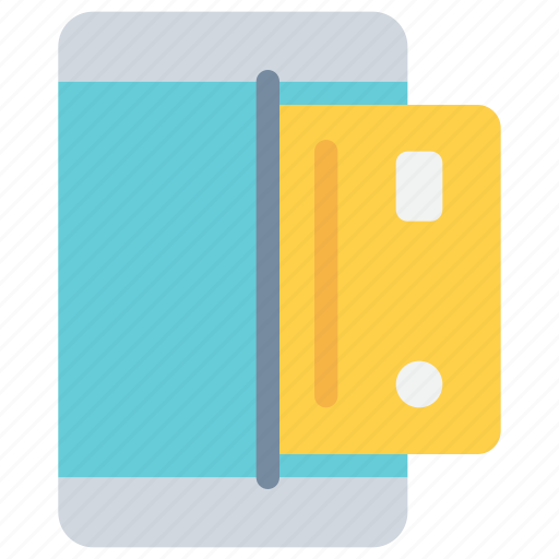 card, credit, mobile, payment, shopping, smartphone icon