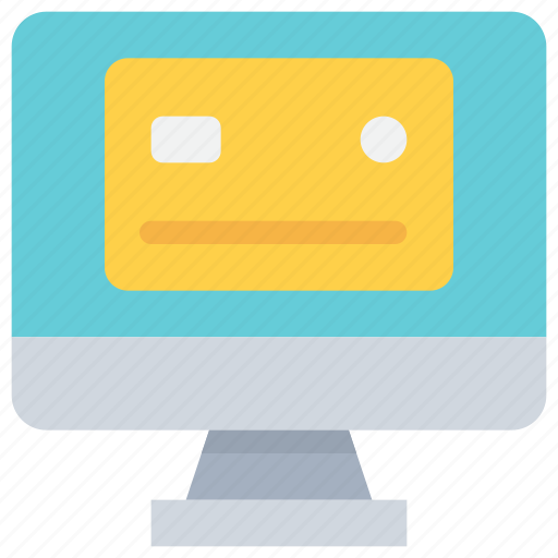 banking, card, computer, credit, payment, shopping icon