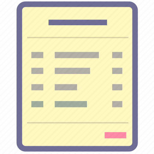 bill, item, list icon