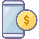 app, mobile, money icon