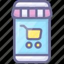 mobile, store icon