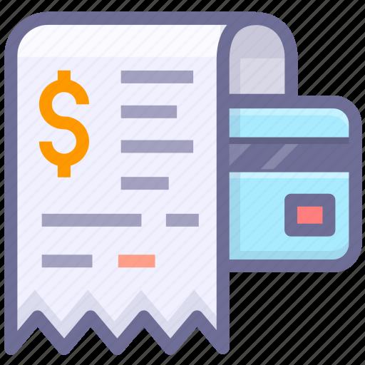 bill, invoice, receipt icon