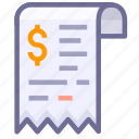 bill, invoice, receipt, sale icon