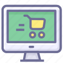 cart, computer, purhcase, shopping icon