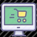 cart, computer, purhcase, shopping icon