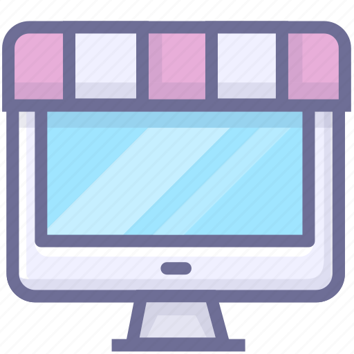 computer, online, shop, store icon