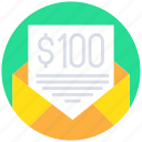 business, currency, email, letter, message, payment icon