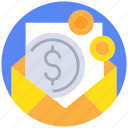 business, currency, email, message, payment icon