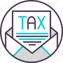 business, cash, currency, payment, tax icon